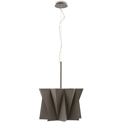 Andromeda Suspension Lamp Finish: Taupe, Size: 79 H x 19.63 W x 19.63 D