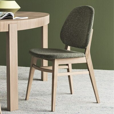 Colette Chair Upholstery: Forest Green, Finish: Walnut