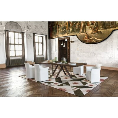 Cartesio Extending and Non Extending Table Base Finish Corten Top Finish Natural Oak