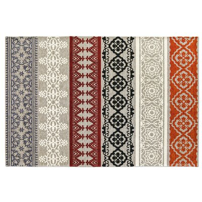 Nadira Gray Area Rug Rug Size: Rectangle 57 x 711