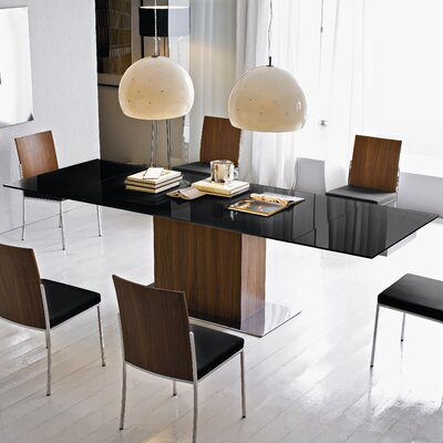 Park Extendable Dining Table Top Finish: Frosted Black
