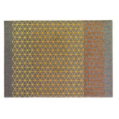 Apotema Gray/Yellow Rug Rug Size: 57 x 710