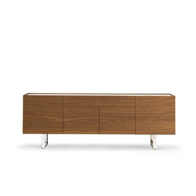 Horizon - 4 Door + Central Drawer Sideboard Color: Walnut