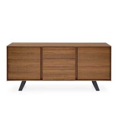 Secret - Sideboard with drawers Finish: Walnut/Matt Gray