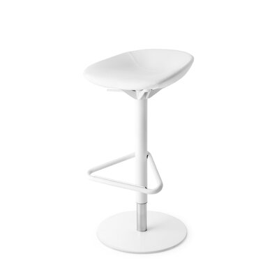 Palm - Upholstered Swivel Stool Finish: Skuba Matt Optic White, Upholstery: Skuba Matt Optic White