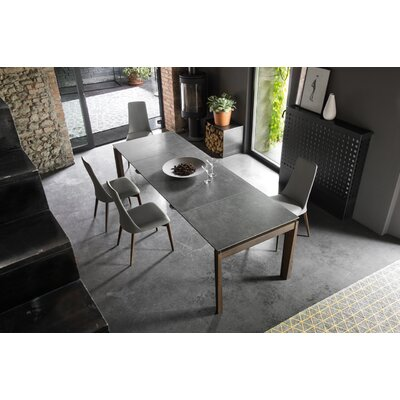 Esteso Wood - Extending table Top Finish: Walnut, Top Finish: Lead Gray