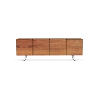 Secret - 4-door sideboard Finish: Walnut/Matt Optic White
