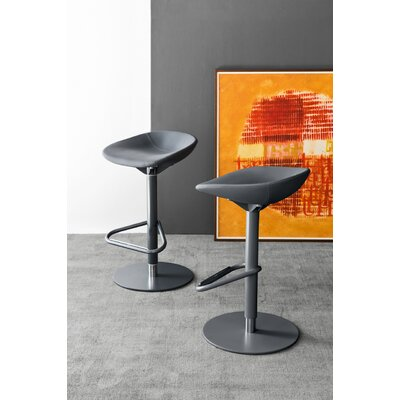 Palm - Upholstered Swivel Stool Finish: Skuba Gray, Upholstery: Skuba Gray