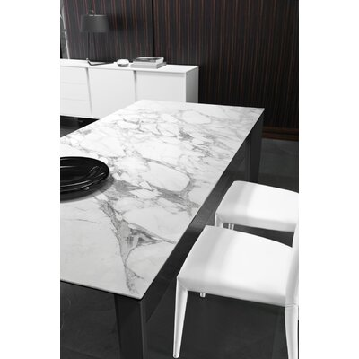 Delta - Extending Table - Ceramic Top Top Finish: White Marble