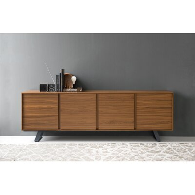 Secret - 4-door sideboard Color: Walnut/Matt Gray