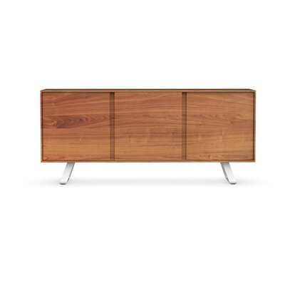 Secret - 3-door sideboard Finish: Walnut/Matt Optic White