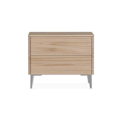 Boston - 2 Drawer Ceramic Top Nightstand Finish: Natural