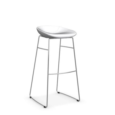 Palm - Upholstered stool Upholstery: Skuba Optic White