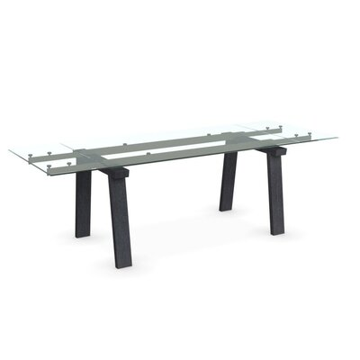 Levante - Extending Table Leg Finish: Graphite, Frame Finish: Matt Optic White