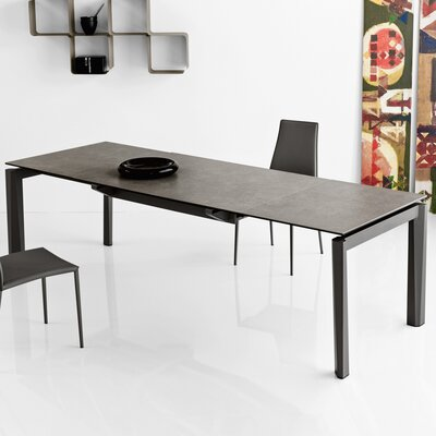 Esteso - Modern extending table Finish: Lead Gray/Matt Gray