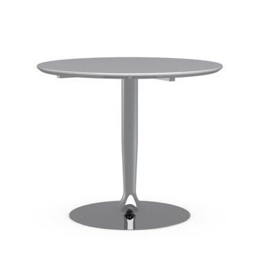 Planet - Round Table Top Finish: Glossy Optic White, Size: 29.625 H x 35.5 W x 35.5 D