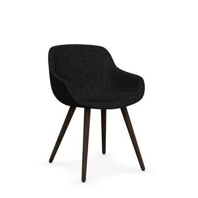 Igloo - Upholstered armchair Upholstery: Fabric - Anthracite Gray, Finish: Smoke