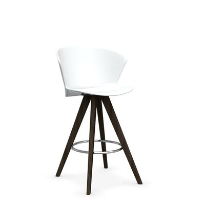 Bahia W - stool Finish: Smoke /Matt Optic White