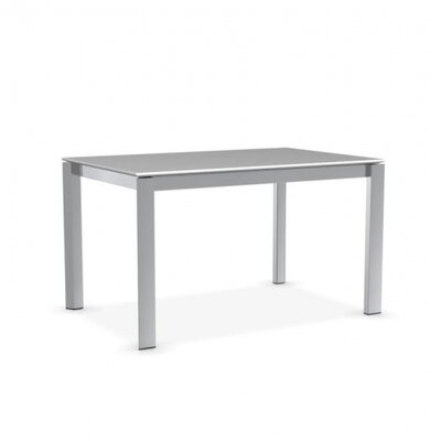 Duca Extendable Dining Table Finish: Polished Aluminum