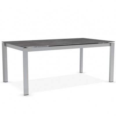 Duca - Extending Table Finish: Satin Steel