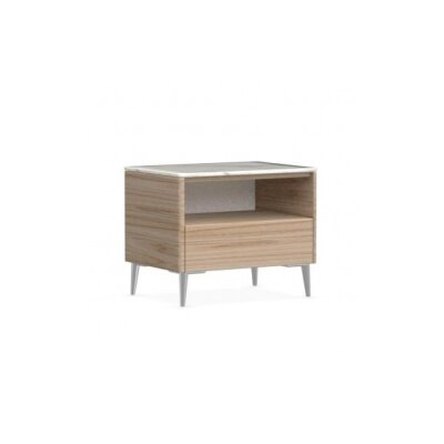 Boston - 1 Drawer Ceramic Top Nightstand Finish: Natural