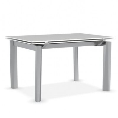 Esteso - Modern extending table Base Finish: Satin Steel