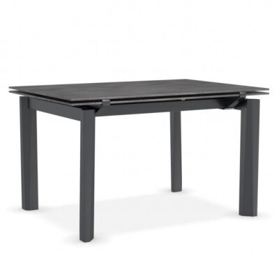 Esteso - Modern extending table Finish: Cement/Matt Gray