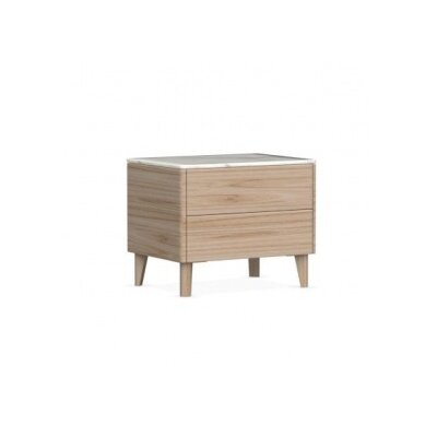Boston - 2 Drawer Ceramic Top Nightstand Color: Natural
