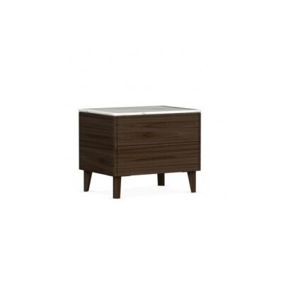 Boston - 2 Drawer Ceramic Top Nightstand Finish: Smoke