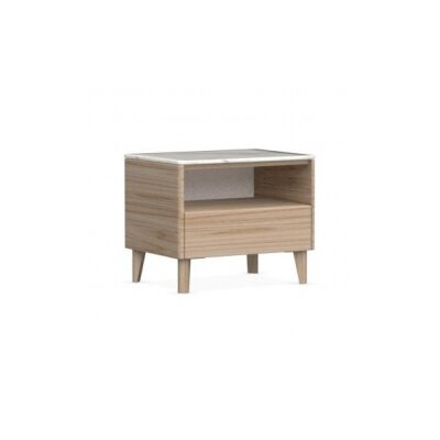 Boston - 1 Drawer Ceramic Top Nightstand Color: Natural