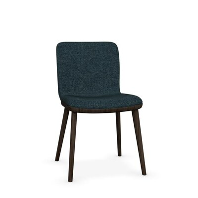 Annie - Upholstered wooden chair Finish: Smoke, Upholstery: Fabric - Aquamarine