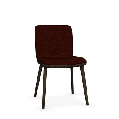 Annie - Upholstered wooden chair Finish: Smoke, Upholstery: Fabric - Red