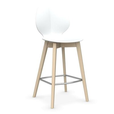 Basil W - Stool Finish: Matt Optic White