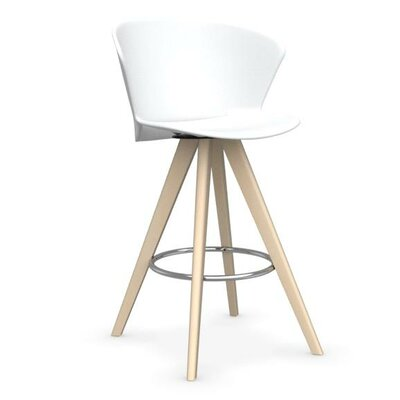 Bahia W - stool Finish: Bleached Beech /Matt Optic White