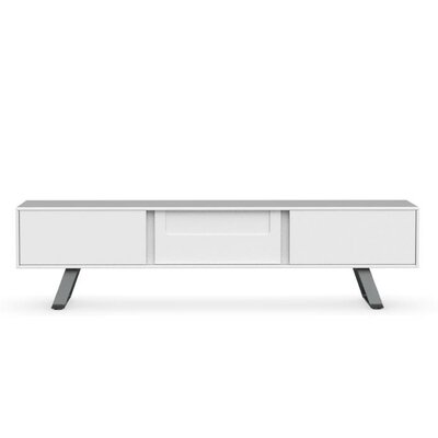 Secret 73 TV Stand Color: Matte Optic White/Matte Gray