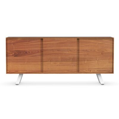 Secret - Sideboard with drawers Color: Walnut/Matt Optic White