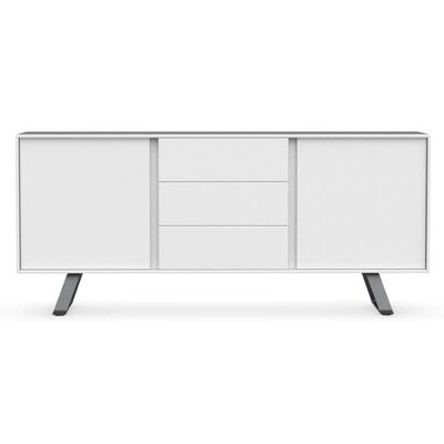 Secret - Sideboard with drawers Color: Matt Optic White/Matt Gray