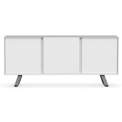 Secret - 3-door sideboard Finish: Matt Optic White/Matt Gray