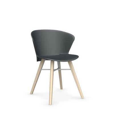 Bahia Mw Side Chair Frame Finish: Smoke, Upholstery: Gray, Upholstery: Optic White