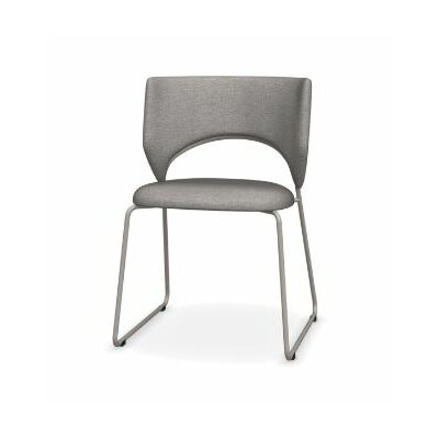 Duffy Upholstered Dining Chair Leg Color: Matte Taupe, Upholstery Color: Denver Cord