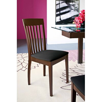 Picture of Calligaris Corte Chair (Set of 2) Finish: Cherry, Upholstery: Black Rio in Large Size