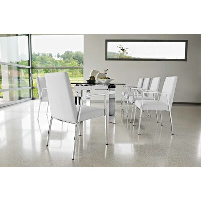 Calligaris Tower Extendible Table Top finish: Transparent Frosted Glass (GN1669_5928181)