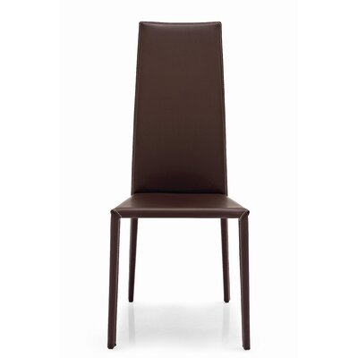 Low Price Calligaris Charme Dining Chair Upholstery: Coffee/Coffee