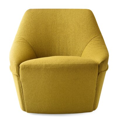 Alma Swivel Arm Chair Upholstery: Melrose Mustard Yellow