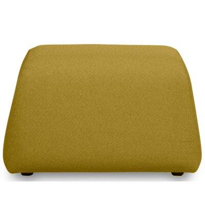 Alma Pouf Upholstery: Melrose Mustard Yellow