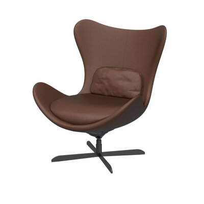 Lazy Swivel Arm Chair Finish: Matte Gray