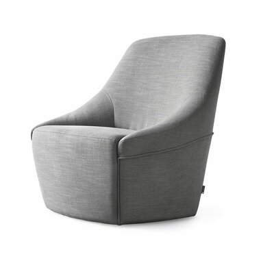Alma Swivel Arm Chair Upholstery: Malmo Light