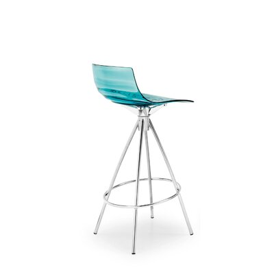 Easy financing L'Eau Stool Seat color: Transparent...