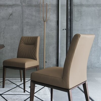 Tosca Chair Frame Color: Walnut, Upholstery Color: Antilope Brown
