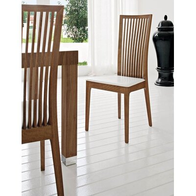 Picture of Calligaris Philadelphia Chair (Set of 4) Finish: Walnut, Upholstery: Brighton Black in Large Size